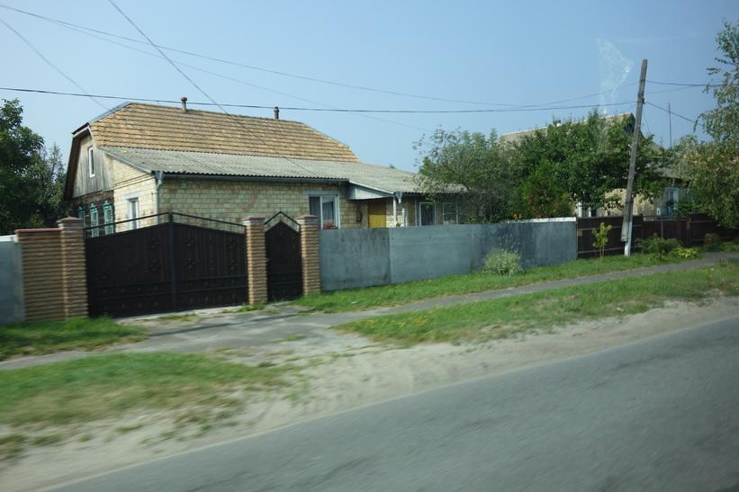 Bostadshus i samhället Ivankiv med drygt 10 000 invånare 5-6 mil söder om Tjernobyl