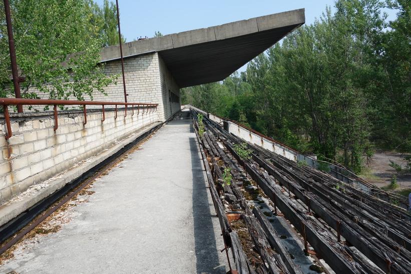 Del av fotbollsarenans läktare, Pripyat.