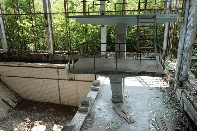 Simhall i en av Pripyats många skolor.
