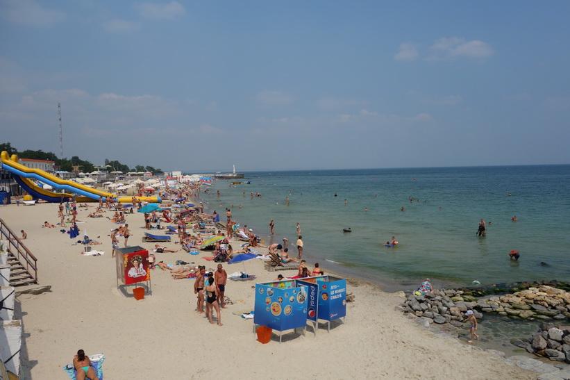 Otrada beach, Odessa.