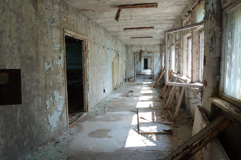 Korridor i skolan, Pripyat.