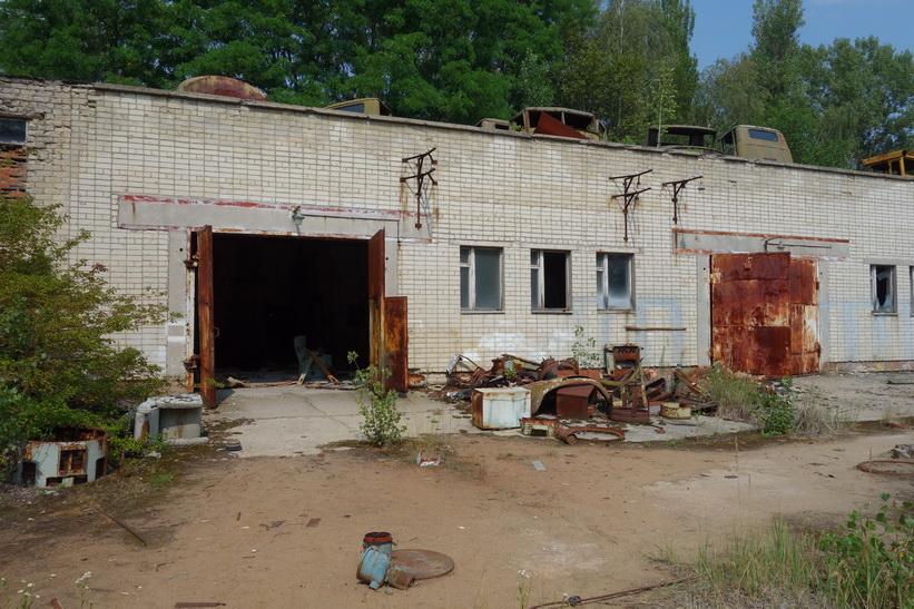 Del av Pripyats busstation.