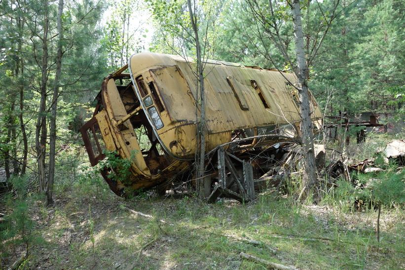 Övergiven buss, Pripyat.