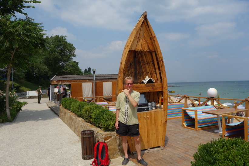 Stefan på Otrada beach, Odessa.