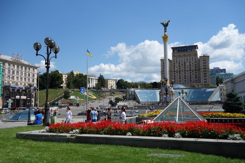 Självständighetstorget (Majdan Nezalezjnosti) i Kiev.