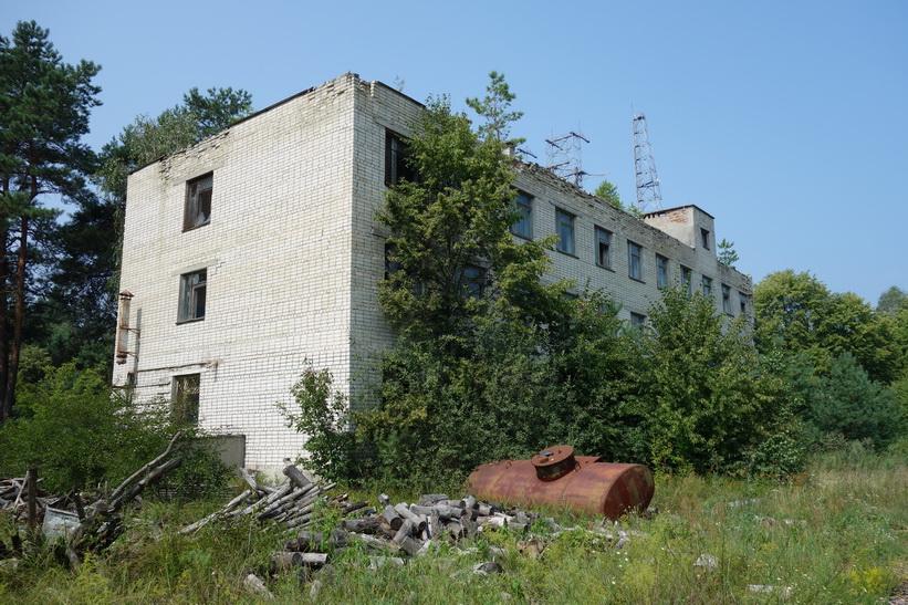 Del av byggnad som användes som kontrollrum för The Russian Woodpecker.