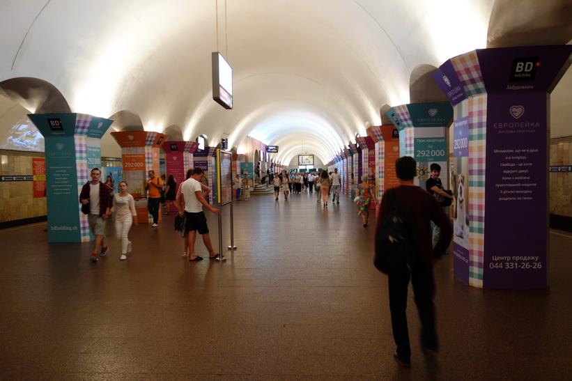 Tunnelbanestation i Kiev.