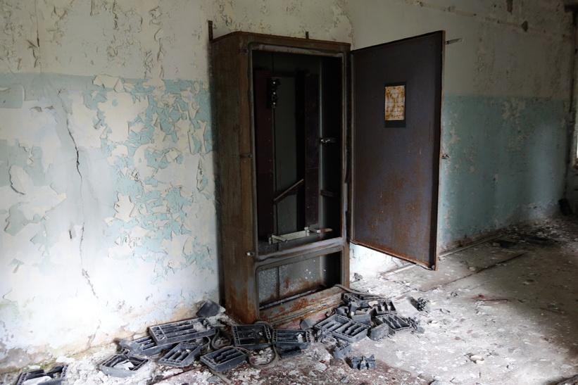 En av korridorerna i byggnaden där folk arbetade med styrningen av The Russian Woodpecker.
