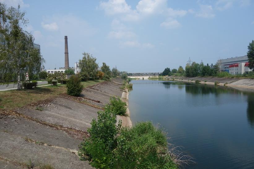 Kanalen närmast kärnkraftverket, Tjernobyl.