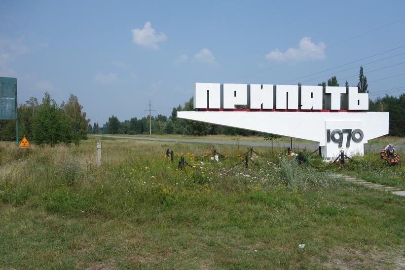 Pripyats stadsskylt.