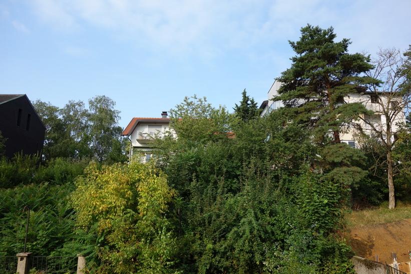 Utsikten från mitt sovrumsfönster i Zagreb.