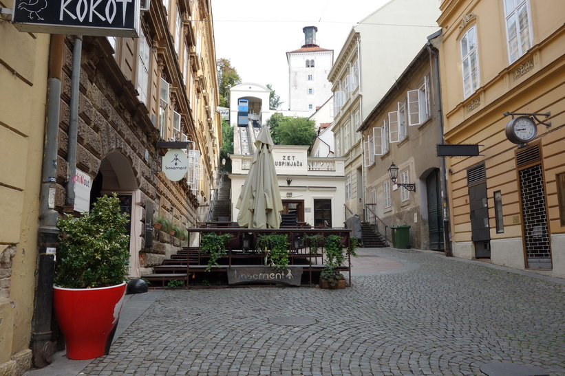 Lotrščaktornet med linbana, Zagreb.