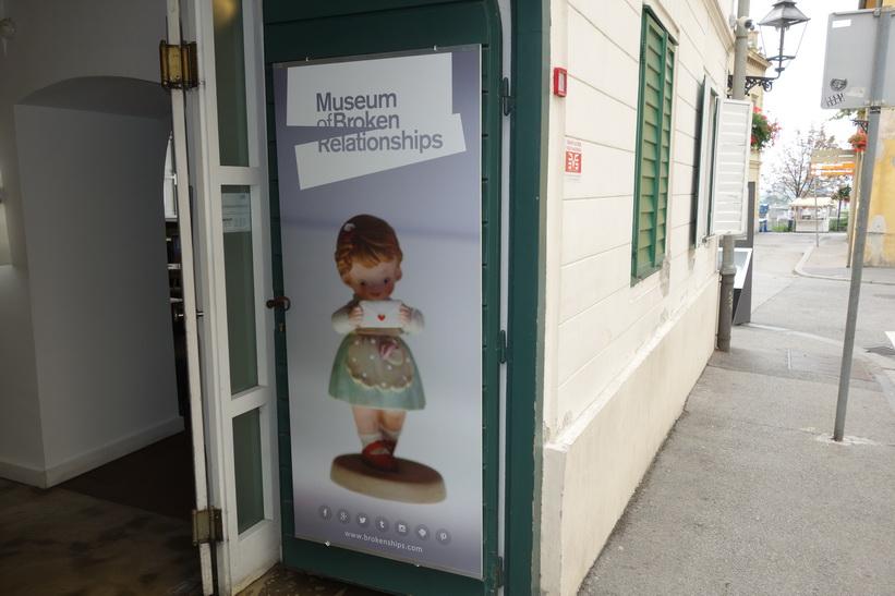 Ett udda museum. Museum of Broken Relationships, Zagreb.
