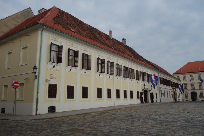 Banski dvori, en historisk byggnad som idag används som regeringsbyggnad, Zagreb.