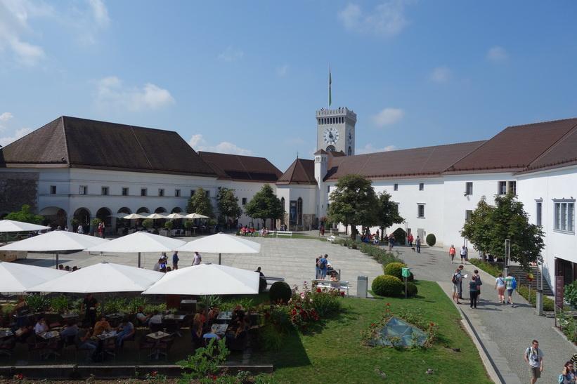 Slottsgården, Ljubljana Castle, Ljubljana.