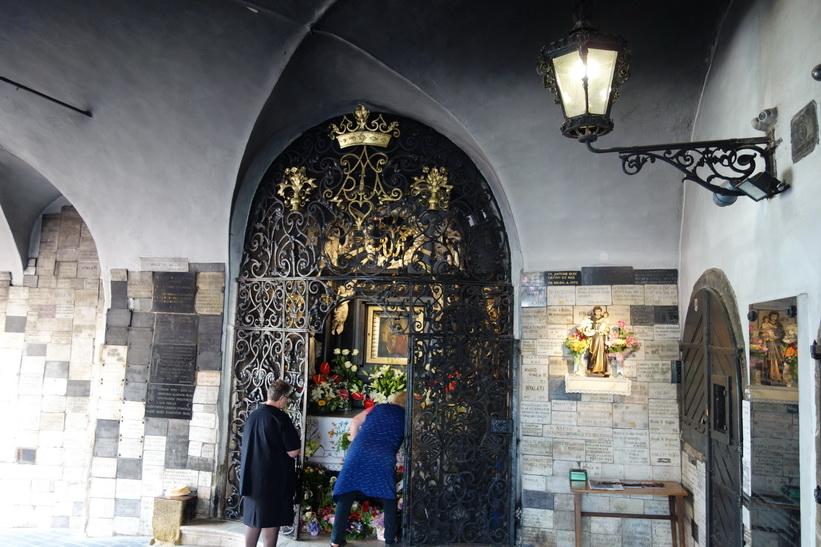 Inne i Stone Gate, Zagreb.
