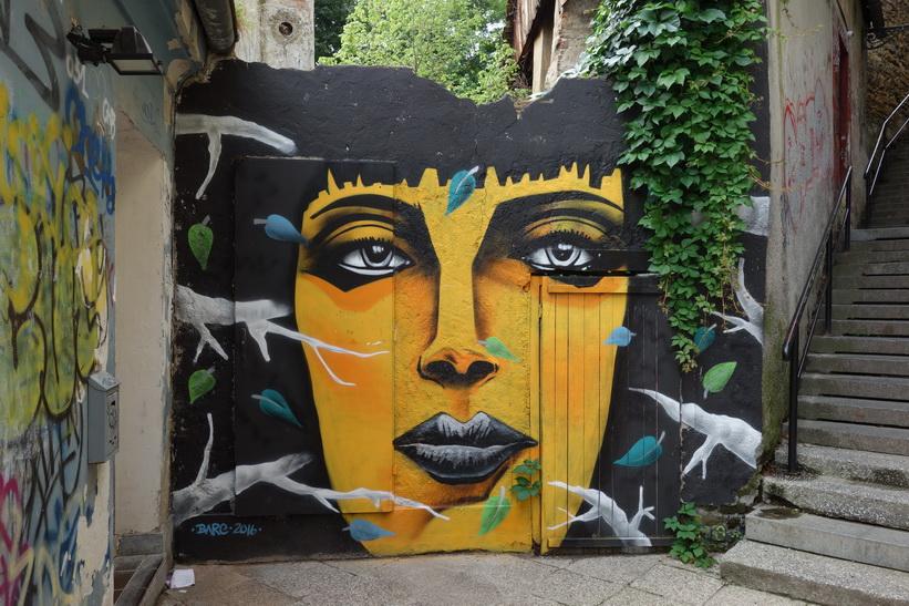 Väggmålning i centrala Zagreb.