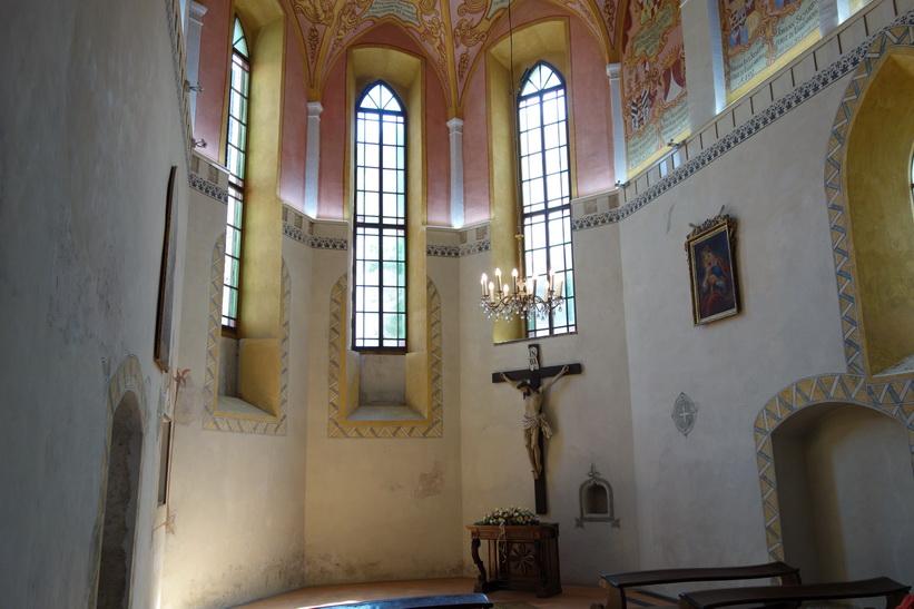 Castle Chapel of St George, en av de äldsta delarna av Ljubljana Castle, Ljubljana.