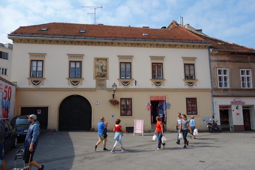 Arkitektur vid Dolac-marknaden, Zagreb.