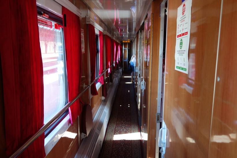 Tåget var gammalt men i gott skick. Tågresan mellan Lviv och Uzhhorod.