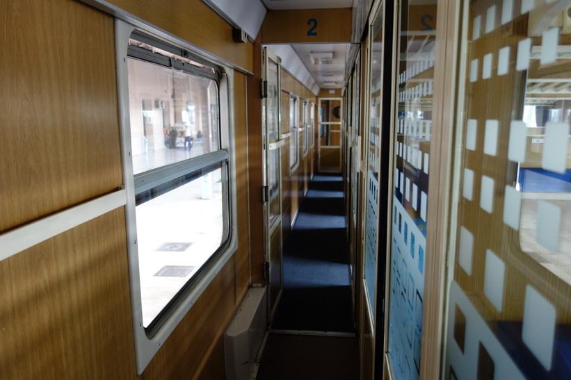 Korridoren på tåget till Ljubljana.