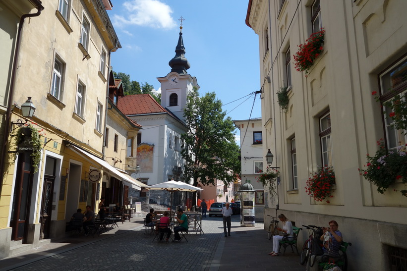 Church of St. Florian i gamla staden, Ljubljana.