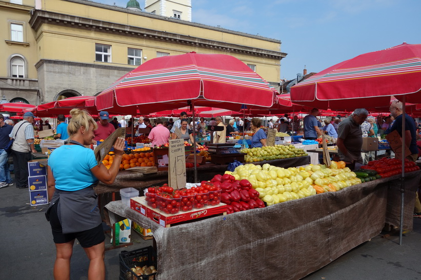 Dolac-marknaden, Zagreb.