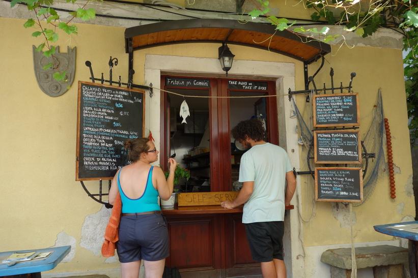 En av mina favoritrestauranger i närheten av mitt boende, Fritolin Pri Cantini, Piran.