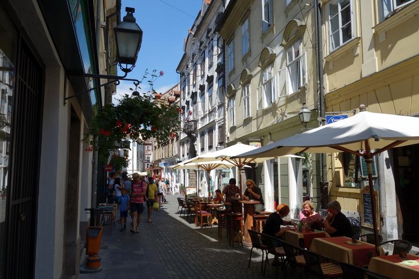Stari trg, gamla staden, Ljubljana.
