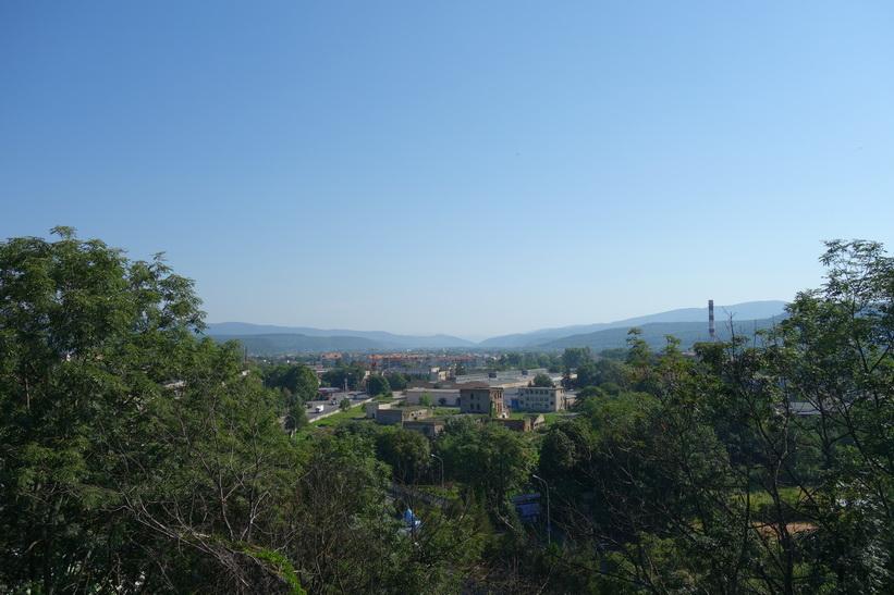 Utsikten från slottsmuren, Uzhhorod Castle, Uzhhorod.