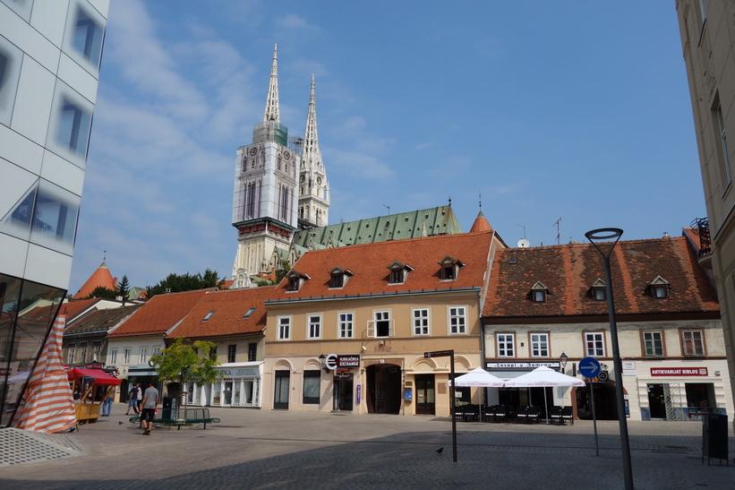 Gatuscen i centrala Zagreb.