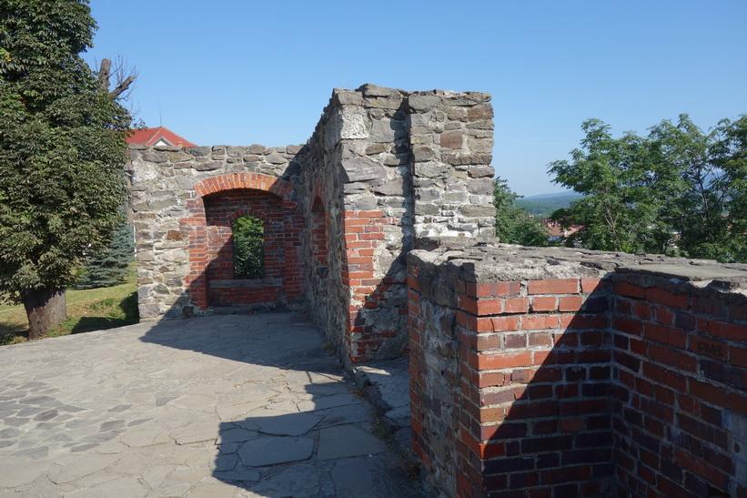 Del av slottsmuren, Uzhhorod Castle, Uzhhorod.
