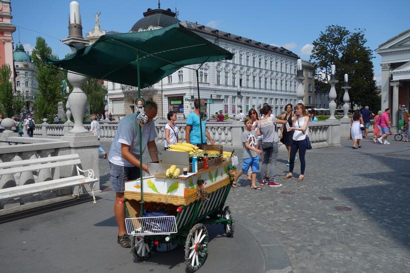 Tromostovje (Triple bridge), gamla staden, Ljubljana.