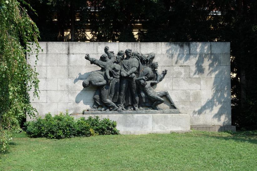 Monument i centrala Zagreb.
