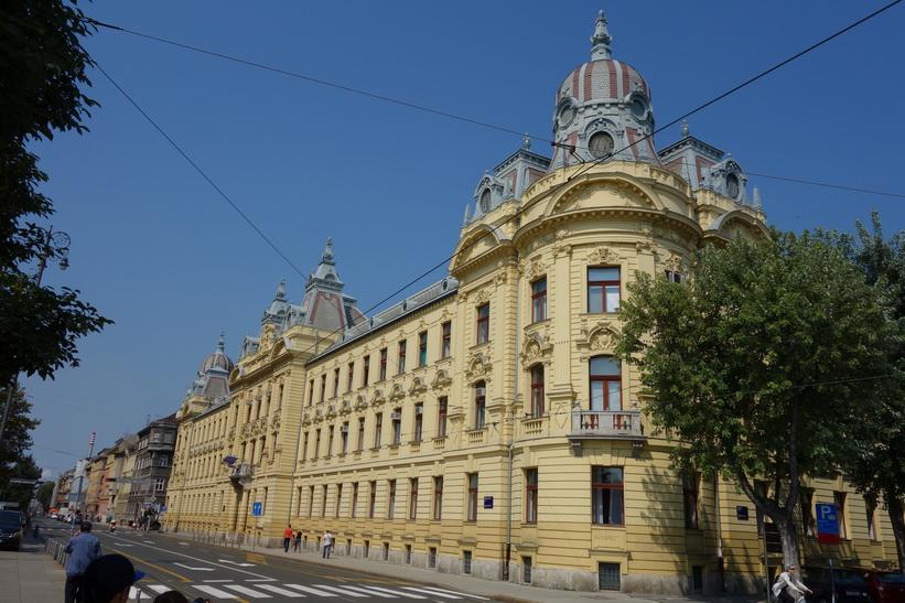 Arkitekturen i centrala Zagreb är fantastisk.