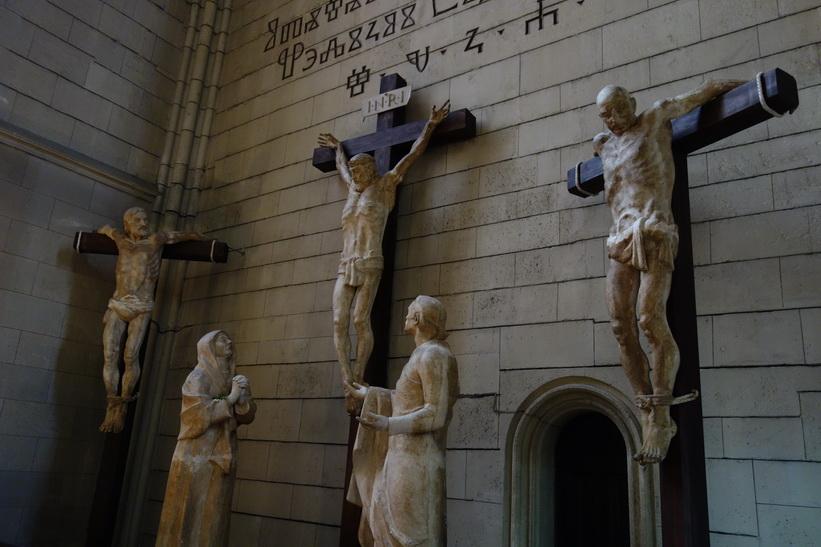 Den fantastiska katedralen i Zagreb. Officiellt namn: Jungfru Marie himmelsfärds och sankt Stefans och Ladislavs katedral.