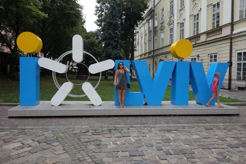 Populär plats i Lviv att ta selfies på.