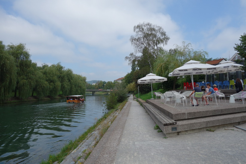 Floden Ljubljanica i centrala Ljubljana.