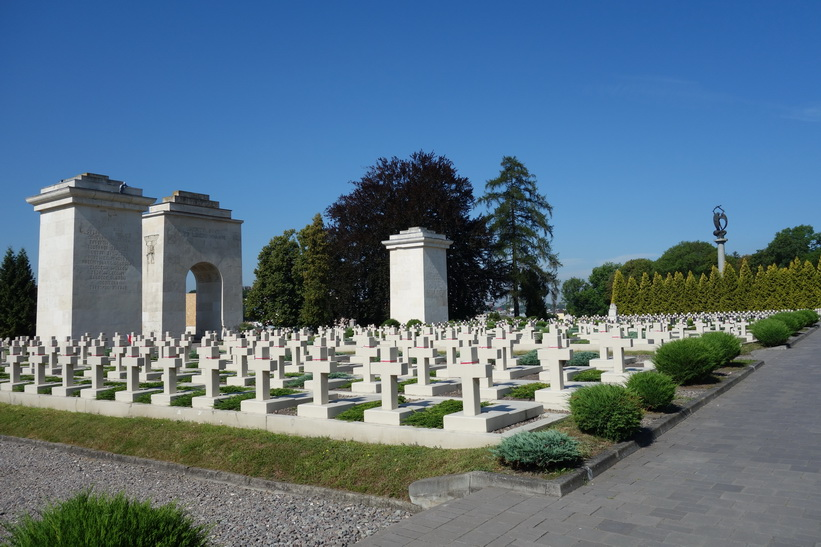 Orlat War Cemetery, en del av Lychakiv Cemetery, Lviv.