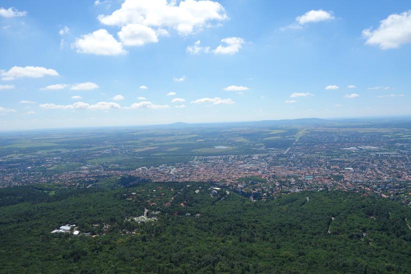 Utsikten uppifrån Pécs TV-torn.