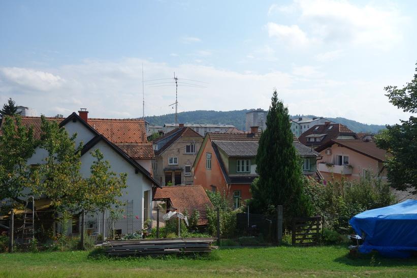Nästan framme i Ljubljana, Slovenien.