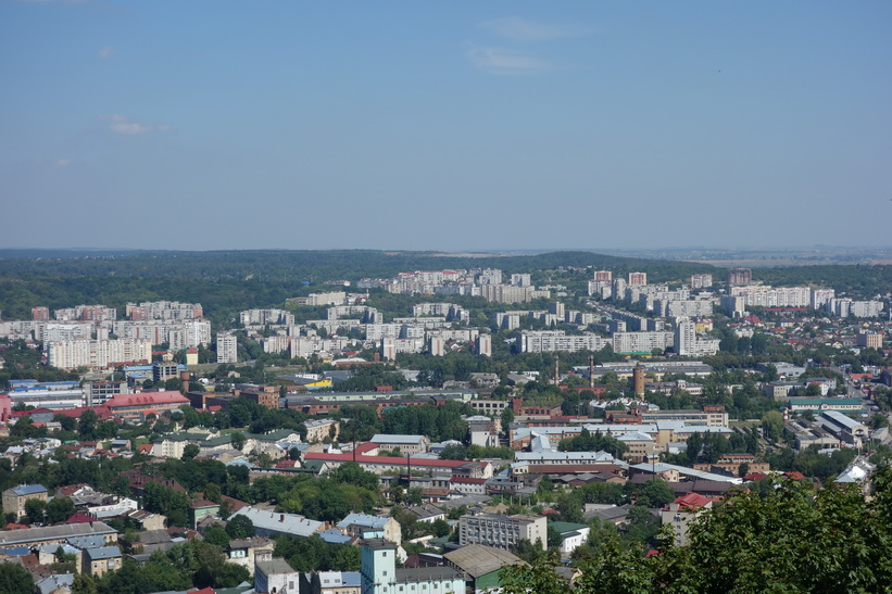 Utsikten från toppen av Castle Hill, Lviv.