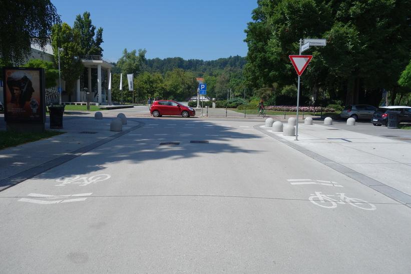 Park Tivoli i sikte, Ljubljana.