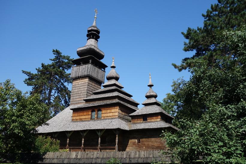 St Michael's wooden church, Museum of Folk Architecture, Uzhhorod.