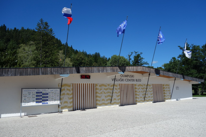 Olympiska roddcentret i Bled.