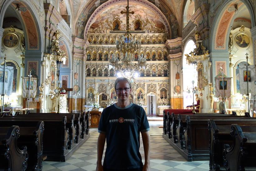 Stefan inne i Greek Catholic Cathedral, Uzhhorod.
