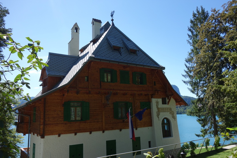 Vacker arkitektur vid Lake Bled, Bled.