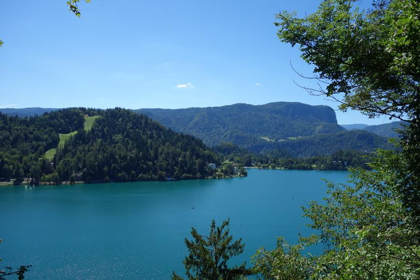 Utsikten över Lake Bled från Bled castle.