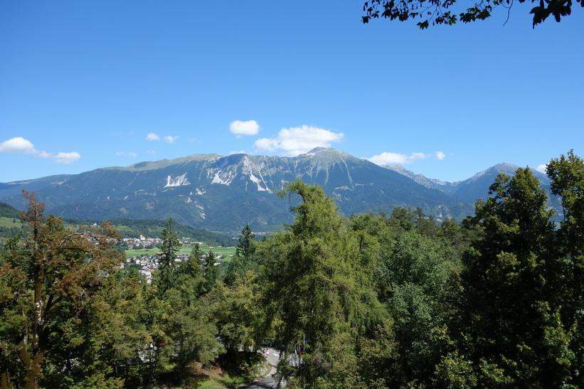 Utsikt över Bled från Bled castle.