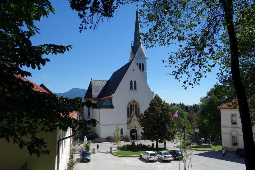 Kyrkan Župnijska cerkev sv. Martina i Bled.